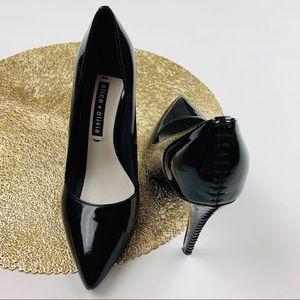 Alice + Olivia Shoes - Alice + Olivia black Dina Patent Leather Heels